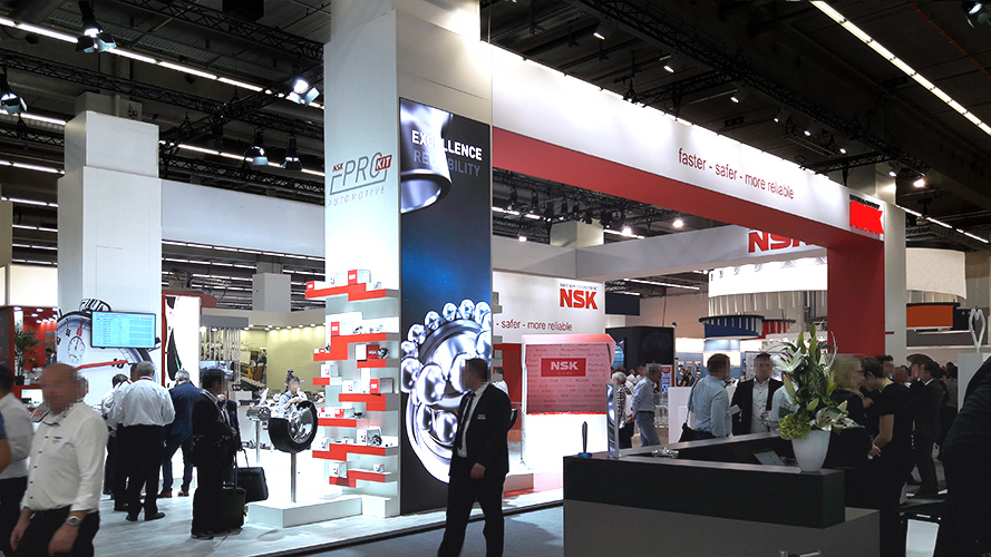 Faster, safer, more reliable was NSK's message to the Independent Automotive Aftermarket at Automechanika Frankfurt