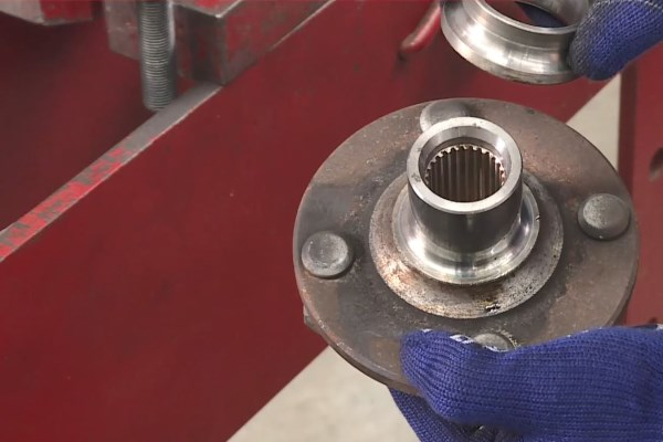 Wheel Bearing Replacement - Keep the inner ring to press out the wheel bearing in the next step